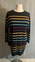 4X ModCloth black striped sweater dress