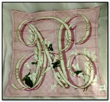 BEAUTIFUL VTG NINA RICCI HANDKERCHIEF SCARF PINK W WHITE LILIES LILLY NEW W TAGS