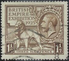 GREAT BRITAIN #204: VF Used Three Half Pence British Empire Exhibition issue