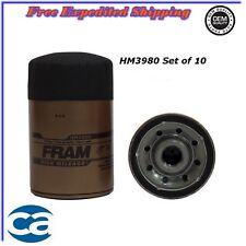 Oil Filter Set of 10 For: Chevrolet GMC G3500 4.3L 5.0L 5.7L