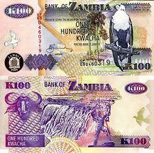 Zambia 100 Kwacha Banknote World Paper Money UNC Currency PICK p38e Bird Note