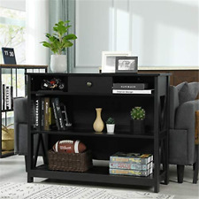 Console Table Sofa Entry Table Side Table 3-Tier Engineered Wood Storage Shelf