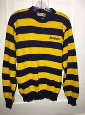 Vintage University of Michigan Wolverines Pullover Sweater Striped L/XL U of M