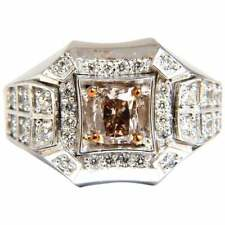 Men's 1.59CT GFancy Color Gemstones With Shiny White CZ Wedding Engagement Ring