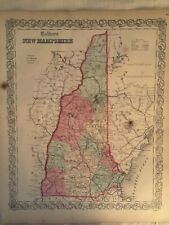 J.H Colton's 1855 Map of New Hampshire