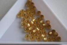 Topaz Light Grey Lined Toho Seed Beads. Size 6 4mm. 150 beads. #7363