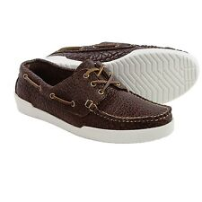 $310 NIB EASTLAND 8, 8.5, 9, 9.5,10,10.5 D Rugged BISON leather Boat shoes USA