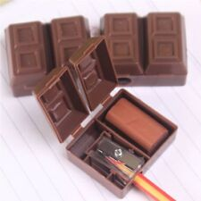 1Pcs School Chocolate Plastic Pencil Sharpener Eraser Stationery For Kids