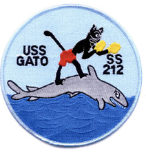 """5"""" NAVY USS SS-212 GATO EMBROIDERED PATCH"""
