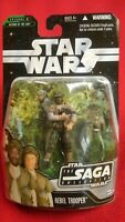 STAR WARS SAGA COLLECTION BLACK REBEL TROOPER ACTION FIGURE 2006 HASBRO