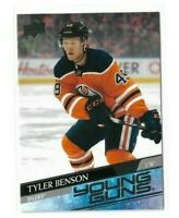 2020-21 UPPER DECK #218 TYLER BENSON YG RC UD YOUNG GUNS ROOKIE OILERS