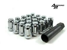 20 Pc CHEVY S-10 CHROME SPLINE TUNER LUG NUTS 12m x 1.50 With KEY # AP-5655