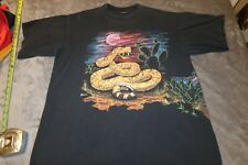 Vintage 90s Snake Shirt Xl double Stitch Hazelwood Habitat The mountain
