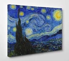 Quadro Van Gogh Notte Stellata Stampa su Tela Vernice Pennellate effetto Dipinto