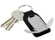 True Utility TU252 Leather FobTool - Keyring/File/Screwdriver/Bottle Opener