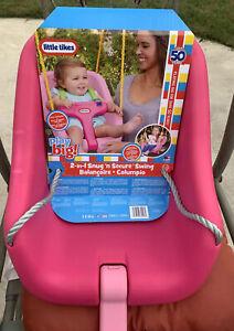 Little Tikes 2-in-1 Kids Secure Swing, Pink