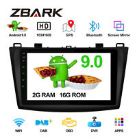 "9"" Android 9.0 Car Stereo GPS Radio Player Bluetooth DAB+ for Mazda 3 2010-2013"