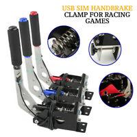 USB Handbrake SIM W/ Clamp For Racing Games G25/27/29 T500 FANATECOSW DIRT RALLY