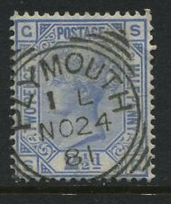 1881 2 1/2d ultra Plate 22 lettered SG, SG 157 with Plymouth squared circle