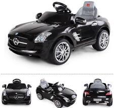 Mercedes-Benz SLS AMG Kinderauto Kinderfahrzeug Kinder Elektroauto (schwarz)