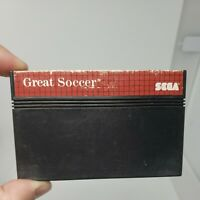 Great  Soccer (Sega Master System 1987) Game Only Tested Working Good Condition