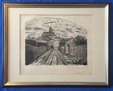 Litografia princesa pilar de Baviera 1930, ciudad vista españa autografiada