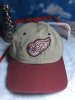 Rare  khaki Detroit redwings zephyr graf-x adjustable strap back hat cap h49