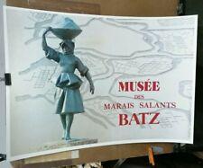 AFFICHE ANCIENNE MUSEE DES MARAIS SALANTS BATZ LOIRE ATLANTIQUE SEL