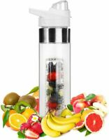 NEW Fruit Infuser Infusion Water Bottle-One Click Open Pro 24oz, WHITE USA Yoga