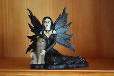 Elfe mit Wolf  Fantasy Figur Fairy Mystik Gothic Fee