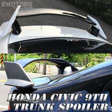 LX EX For Honda Civic 9th Type-R Look Trunk Spoiler Wing 12-15 Unpaint 4D Sedan
