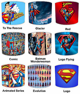 Superman Lampshades, Ideal To Match Superman Wallpaper & Superman Posters