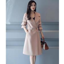 5 Colors New Casual Korean Trench Coat Fashion Women Slim Outwear Coat Sz M-4Xl