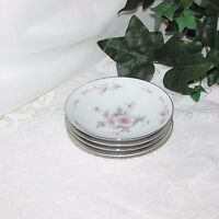 "4 VINTAGE SANGO FINE CHINA POPPY SMALL BERRY DESSERT BOWL 5.5"" PINK FLOWER JAPAN"