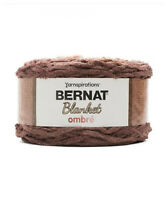 Bernat Blanket Ombre Yarn 6x 300g - Chocolate 100% Polyester Ideal to knit