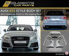 AUDI A3 RS3 S3 STYLE BODYKIT 8V Sportback & Saloon 2013 + RS3 BODY KIT  (UK)