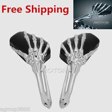 Chrome Skull Skeleton Rearview Mirrors for HONDA SHADOW REBEL VTX 1300 1800