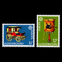 """Luxembourg 1979 - Europa Stamps """"Comunications"""" - Sc 624/5 MNH"""