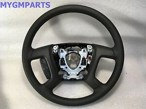 TAHOE YUKON AVALANCHE BLACK STEERING WHEEL W/CRUISE EXC LEATHER 2007-13 22947808