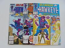 3x Solo Avengers -Hawkeye Nr.1-3 US Marvel Comic Zustand 1