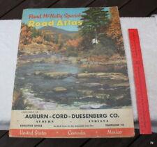 Auburn Cord Duesenberg Rand McNally Special Edition Atlas-Exec Office 1955-RARE!