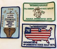 3 Vintage Winnehahas WIT State Rally Winnebago RV Embroidered Patches MN