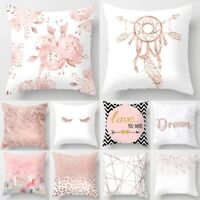 Nordic Style Pillow Case Pink Geometric Cushion Cover Home Decorative Pillows