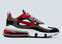 NIKE AIR MAX 270 REACT - Black University Red White Iron Grey Trainers