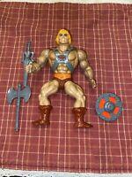 MOTU, He-Man, Masters of the Universe, vintage, complete, original, figure, 100%