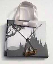 Disney Parks Kingdoms  Castles Ariel & Prince Eric On Boat Necklace New
