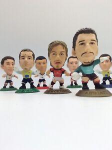 Job Lot Corinthian football figures Various Years Various Players Beckham Zidane