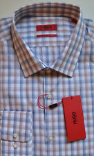 NWT HUGO Red Label By Hugo Boss Sharp Fit Long Sleeve Shadow Check Dress Shirt