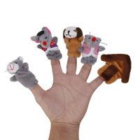 6 stücke Mäuse Maus Katze Hund Tiere Plüsch Fingerpuppen Baby Kinder
