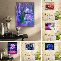 KQ_ BE_ BU_ KE_ Rose Flower Diamond Painting DIY Embroidery Cross Stitch Wall Ho